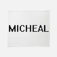 Micheal Digital Name Design Throw Blanket