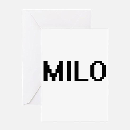 Milo Digital Name Design Greeting Cards