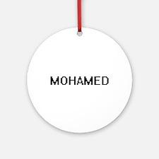 Mohamed Digital Name Design Ornament (Round)