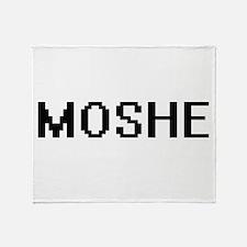 Moshe Digital Name Design Throw Blanket