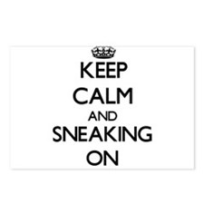 Keep Calm and Sneaking ON Postcards (Package of 8)