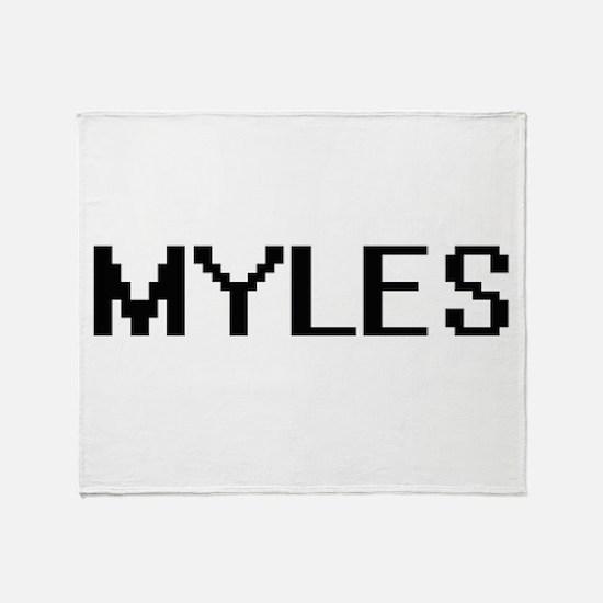 Myles Digital Name Design Throw Blanket