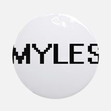 Myles Digital Name Design Ornament (Round)
