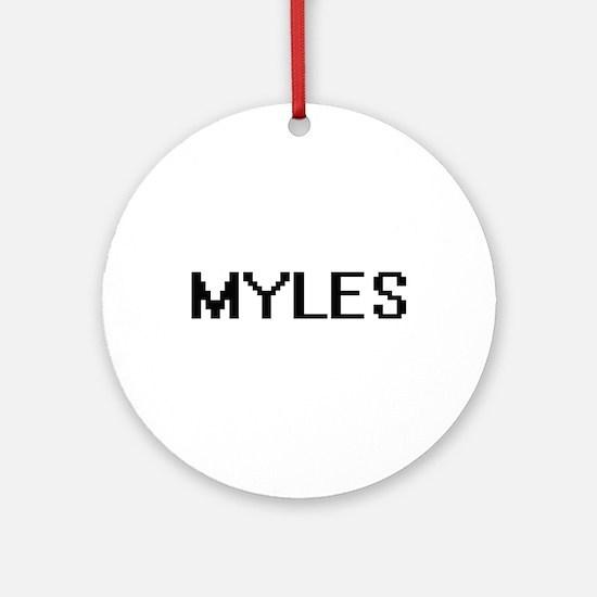 Myles Digital Name Design Ornament (Round)