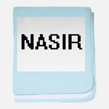 Nasir Digital Name Design baby blanket
