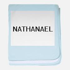 Nathanael Digital Name Design baby blanket