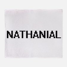Nathanial Digital Name Design Throw Blanket
