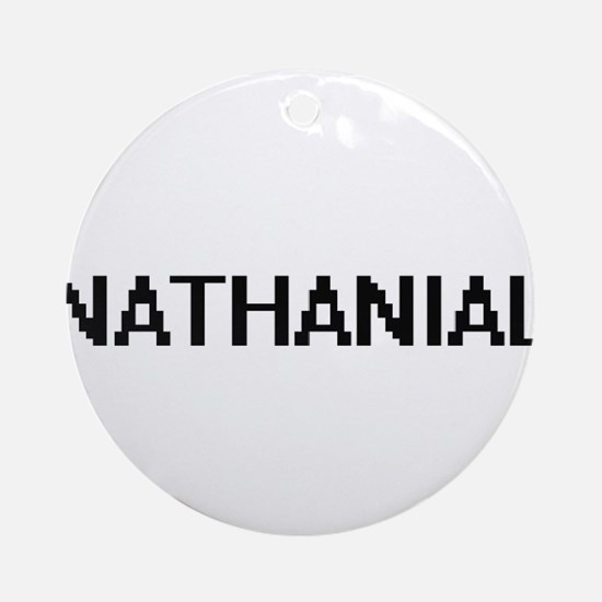 Nathanial Digital Name Design Ornament (Round)