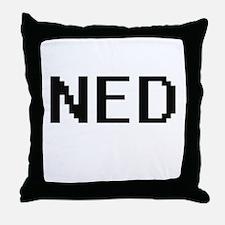 Ned Digital Name Design Throw Pillow