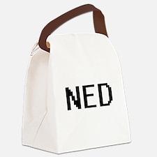 Ned Digital Name Design Canvas Lunch Bag