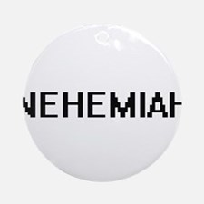Nehemiah Digital Name Design Ornament (Round)