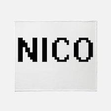 Nico Digital Name Design Throw Blanket
