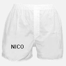Nico Digital Name Design Boxer Shorts