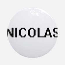 Nicolas Digital Name Design Ornament (Round)