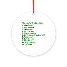 To-Do List: Ornament (Round)