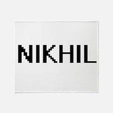 Nikhil Digital Name Design Throw Blanket