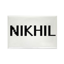 Nikhil Digital Name Design Magnets