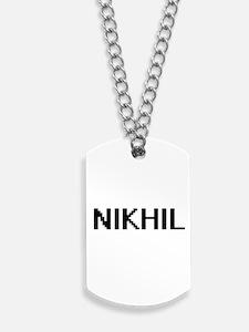 Nikhil Digital Name Design Dog Tags