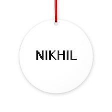 Nikhil Digital Name Design Ornament (Round)
