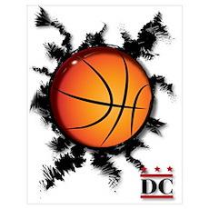 Basketball DC logo Poster