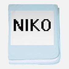 Niko Digital Name Design baby blanket