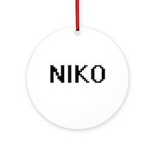 Niko Digital Name Design Ornament (Round)