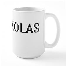 Nikolas Digital Name Design Mugs