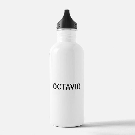 Octavio Digital Name D Sports Water Bottle