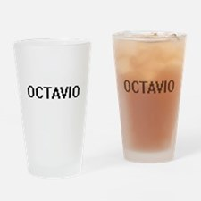 Octavio Digital Name Design Drinking Glass