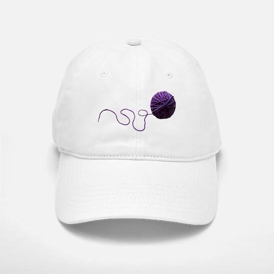 Purple Yarn Ball Baseball Baseball Baseball Cap