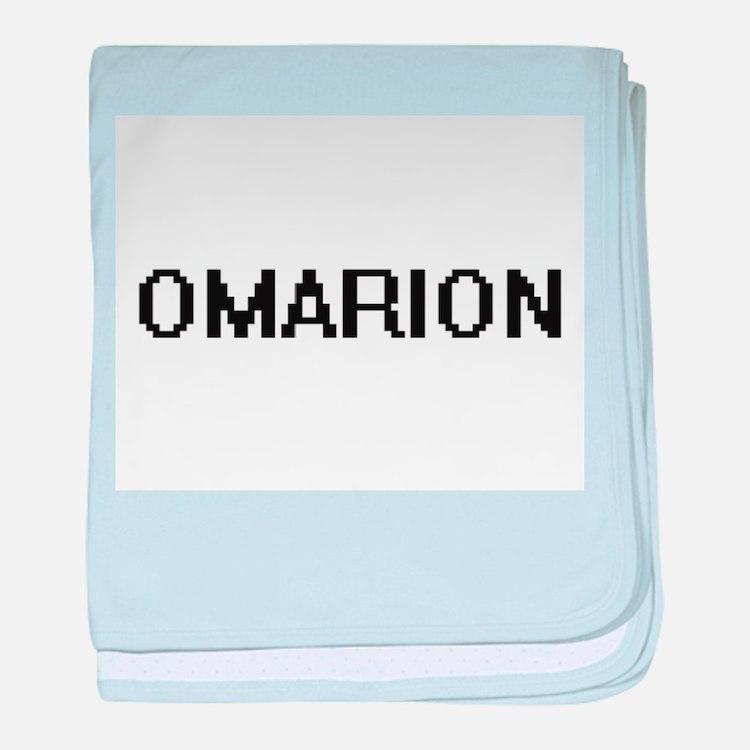 Omarion Digital Name Design baby blanket