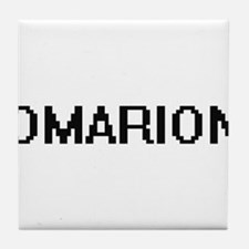Omarion Digital Name Design Tile Coaster