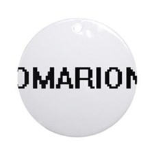 Omarion Digital Name Design Ornament (Round)