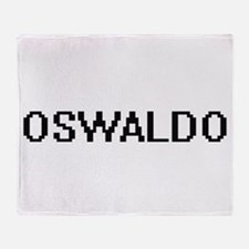 Oswaldo Digital Name Design Throw Blanket
