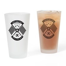 Checkers or Wreckers Racing Drinking Glass
