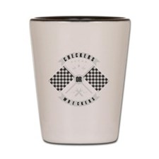 Checkers or Wreckers Racing Shot Glass