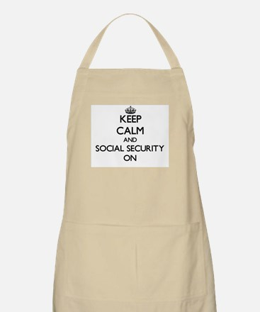 Keep Calm and Social Security ON Apron