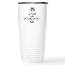 Keep Calm and Social Wo Travel Mug