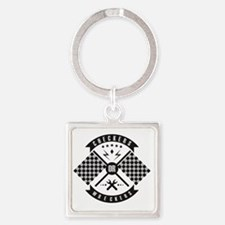 It's only Checkers or Wreckers Square Keychain