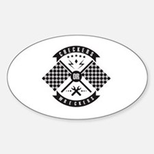 It's only Checkers or Wreckers Sticker (Oval)