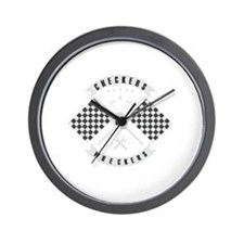 It's only Checkers or Wreckers Wall Clock