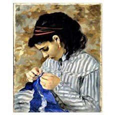 Renoir - Lise Sewing Poster
