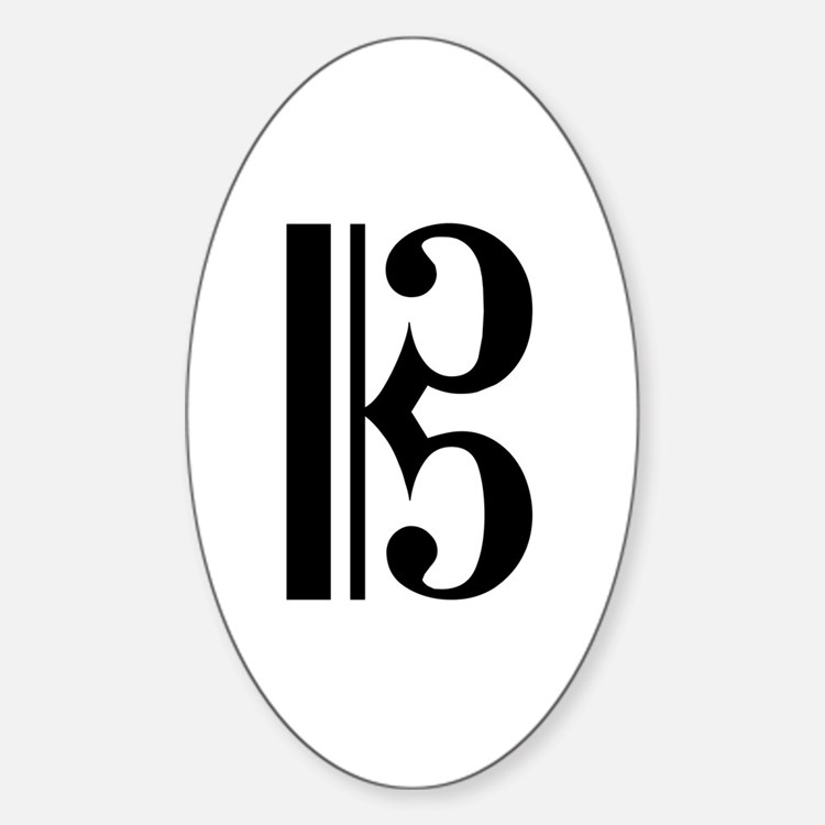 C Clef Oval Decal