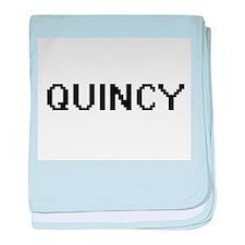 Quincy Digital Name Design baby blanket