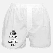 Keep Calm and Softies ON Boxer Shorts