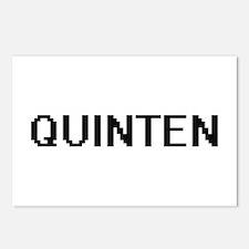 Quinten Digital Name Desi Postcards (Package of 8)