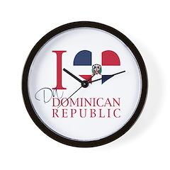 I Love Da Dominican Republic Wall Clock