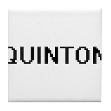 Quinton Digital Name Design Tile Coaster