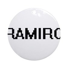 Ramiro Digital Name Design Ornament (Round)