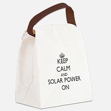 Keep Calm and Solar Power ON Canvas Lunch Bag